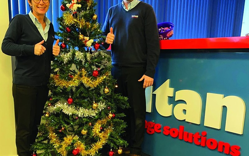 Festive £500 from Titan for local charity