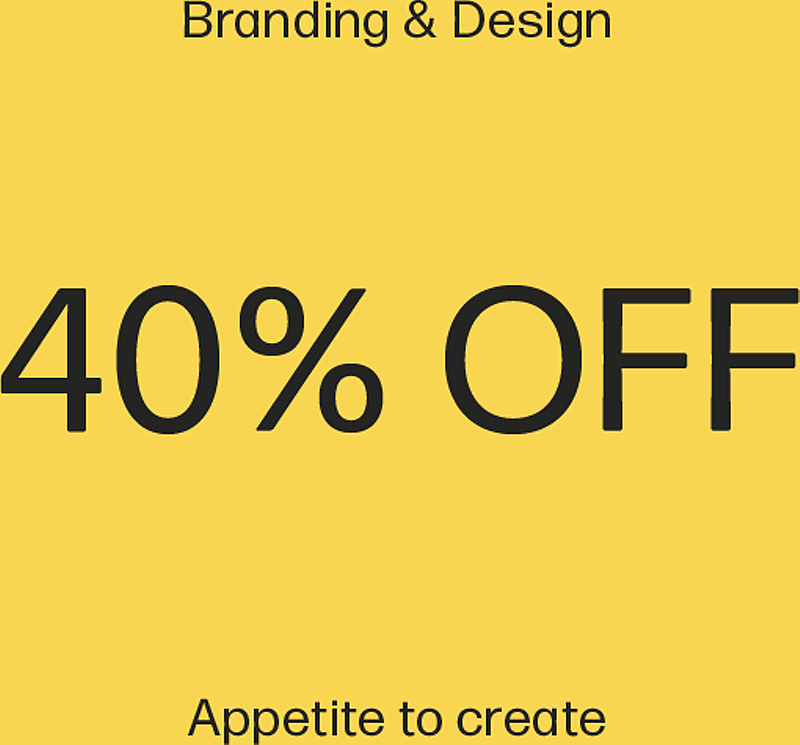 40% OFF all design & branding